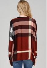 Ally Plaid Top- Rust Red
