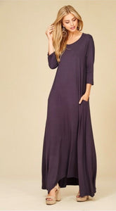 Jenna Maxi- Plus Size in Black or Slate