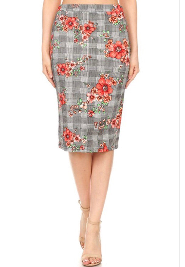 Begonia Pencil Skirt S-XXXL