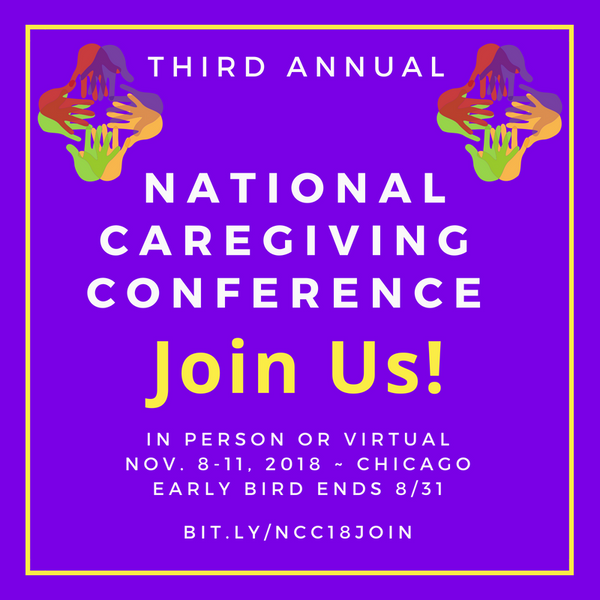 Join me at the 3rd Annual National Caregiving Conference