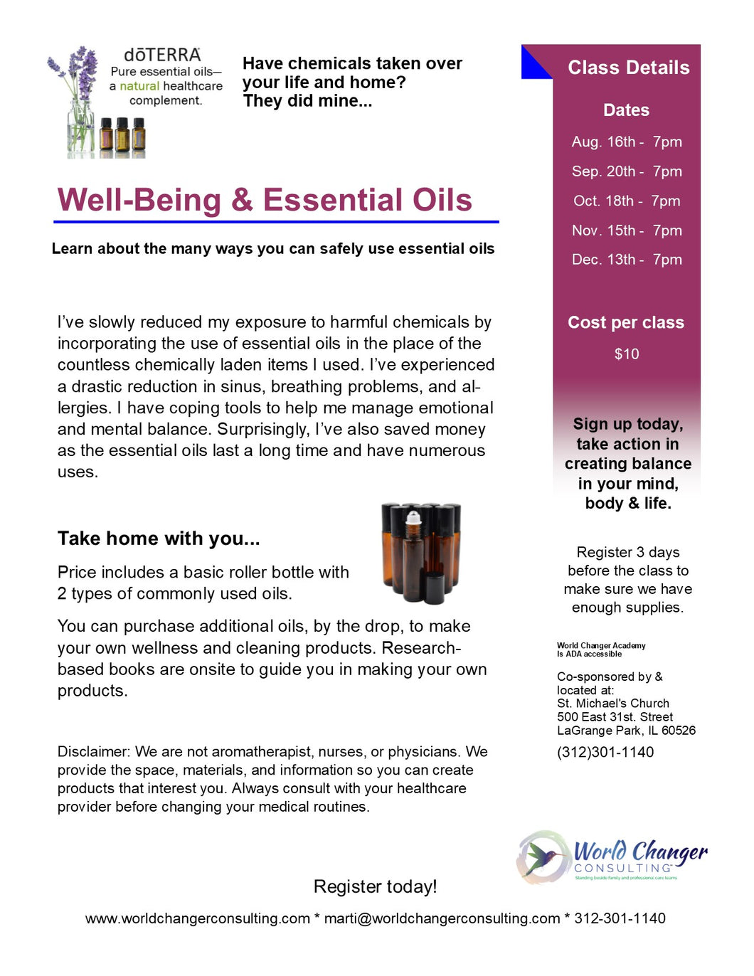 Wellbeing & Essential Oils Make & Take - Learn about the many ways you can safely use essential oils