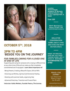 Beside You On the Journey - For Families Caring For a Loved One at End of Life