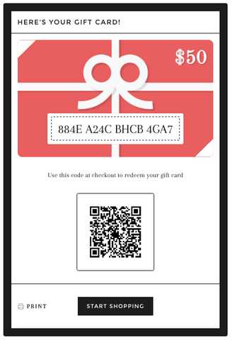 what your gift card will look like