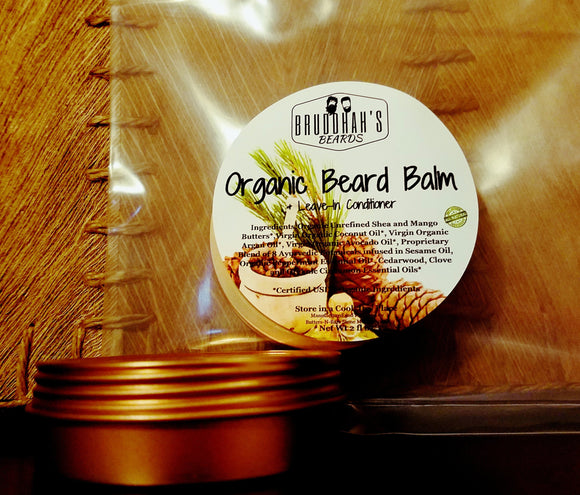 Organic Beard Balm Leave-In Conditioner