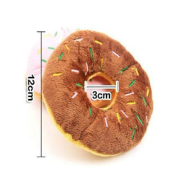 1 PC Donut Pet Squeaky Chew Toys