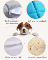 Cartoon Aircraft Shape Soft Pet Bed in Blue or Grey
