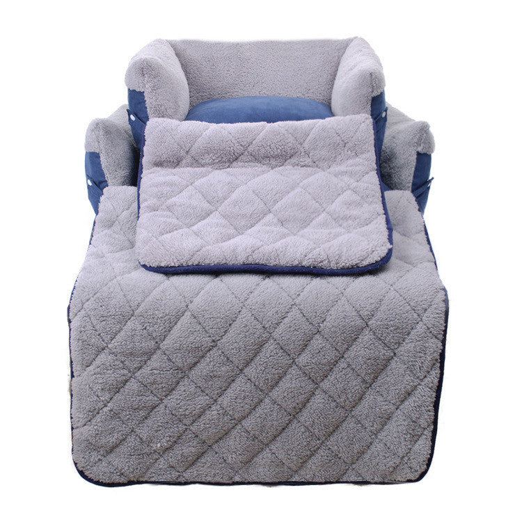 Cozy Multi-Function Pet Beds with Mat in 2 Colors