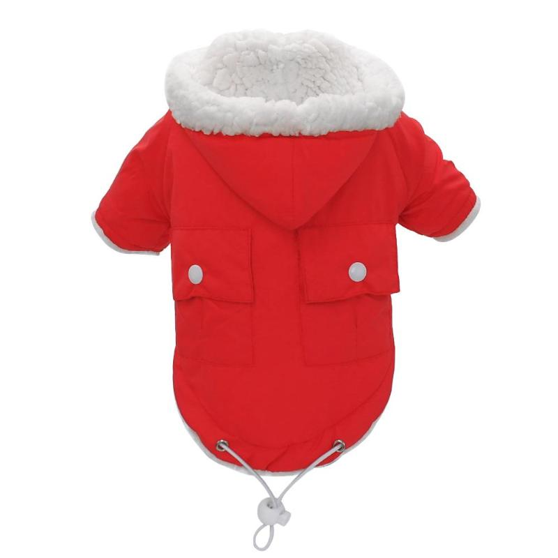 Winter Warm Hooded Pet Coats with Back Pockets in 3 Great Colors