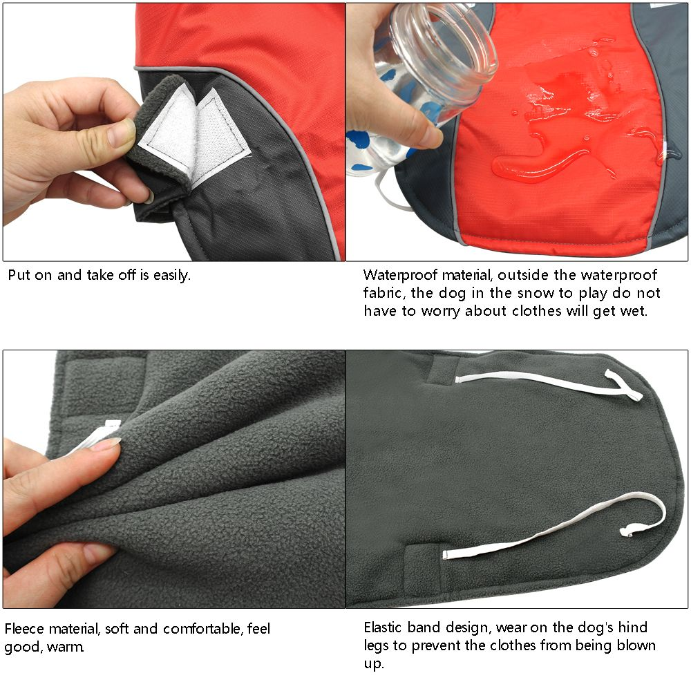 Winter Waterproof & Reflective Pet Jacket Vests in 2 Colors - 8 Sizes