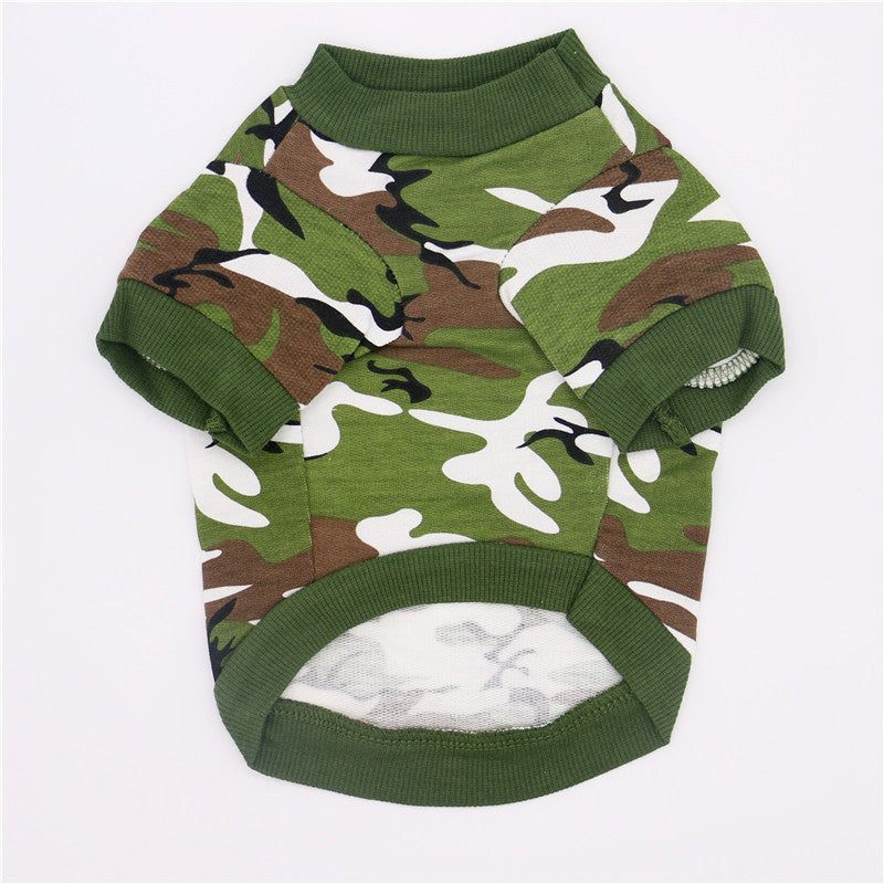 Fashionable Camouflage Cotton Pet Pullovers