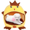 Cashmere Cartoon Chicken Shape Pet House Bed in Yellow or Brown