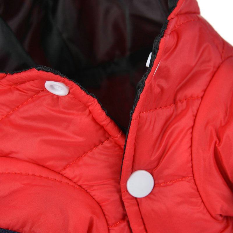 Winter Warm Hooded Pet Coats in Red or Grey