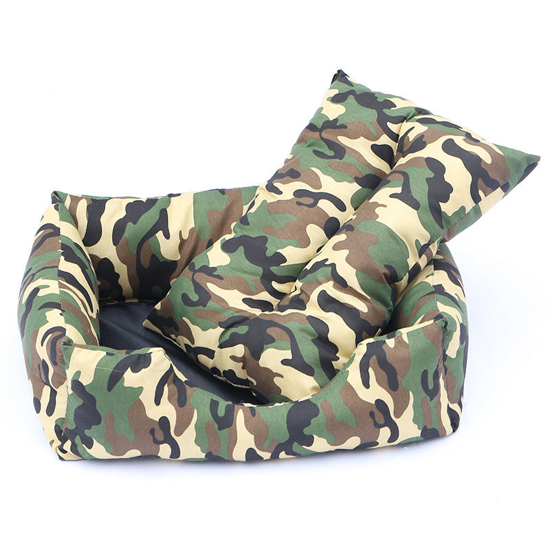 Warm Pet Bed - Cartoon or Camouflage Prints in Various Colors - 3 Sizes