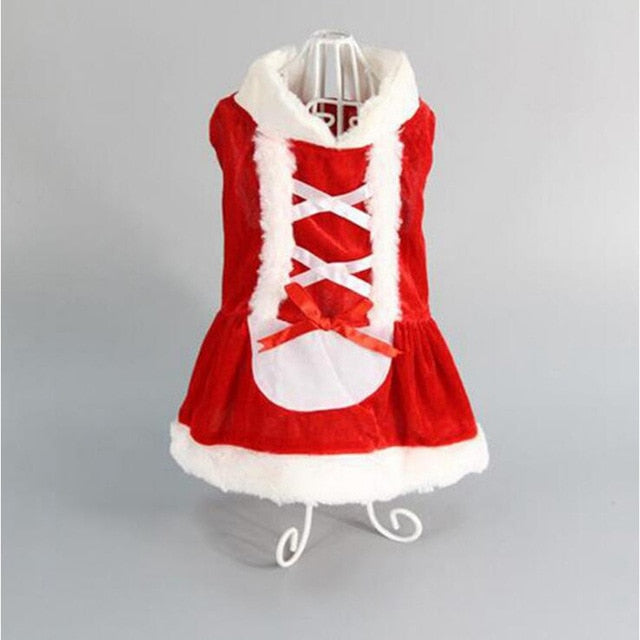 Red Xmas Cosplay Dog Dress