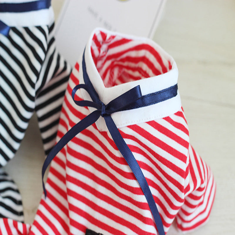 Stripe Embroidery Dress