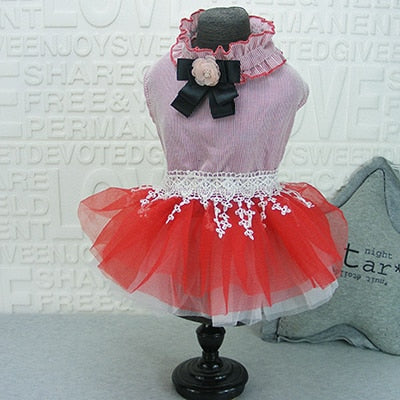 Striped Bowknot Tutu Dress