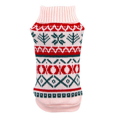 Warm Soft Snowflower Print Pet Knitwear - Sweaters in Multiple Colors