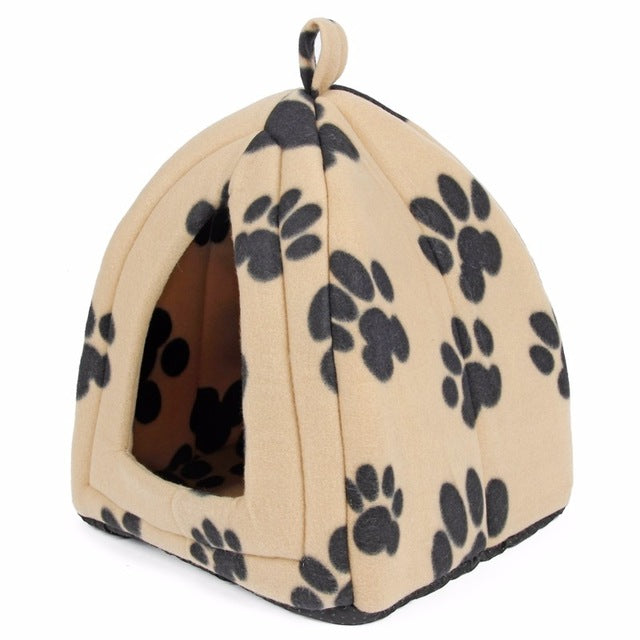 Hot Seller! Warm Cat House - Pet Bed in Paw Print Colors