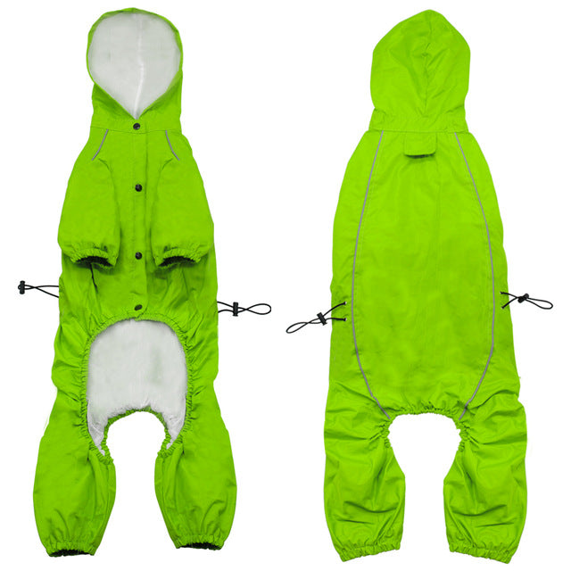 Waterproof Hooded Long Sleeve Full Cover Raincoats in Bright Orange or Green