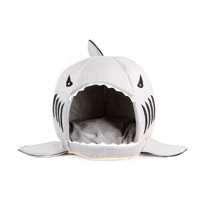 Shark Mouth Pet House Bed in 2 Sizes