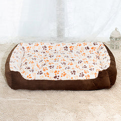 Warm Corduroy Padded Pet Bed in 3 Colors & 6 Sizes