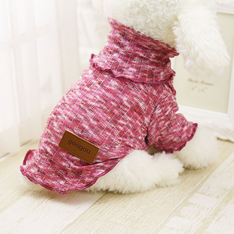 Stylish Turtleneck Ribbed Pet Shirts in 8 Great Colors