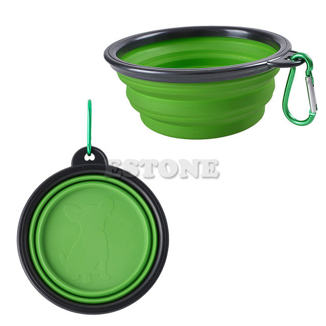 Portable, Foldable, Collapsible Pet Feeding Bowl in Bright Colors – OneSize