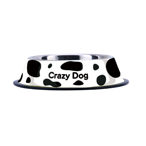 Fashionable Non-Slip Stainless Steel Pet Bowls in Multiple Prints