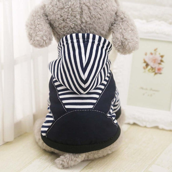 Stylish Striped Warm Hoodie Pullovers XS-7XL