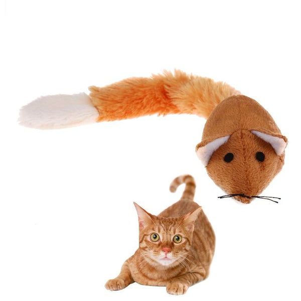 Plush Mouse Cat Toy with Mint