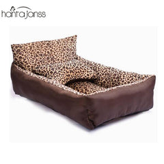Luxury Pet Bed with Bone Shaped Pillow Set in 2 Sizes
