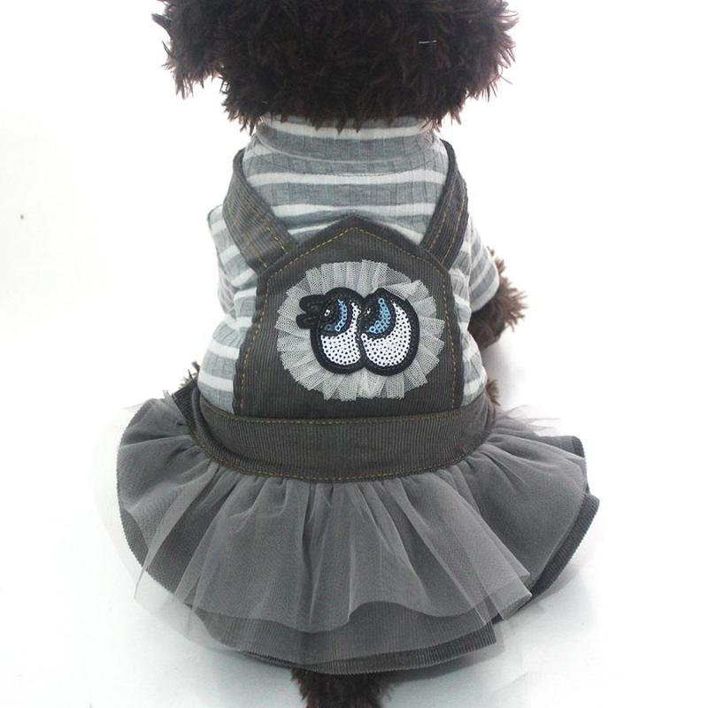 New Arrival! Fashionable Striped Corduroy Pet Dresses with Tutu