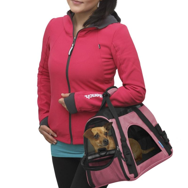 Fashionable Travel Pet Carrier Bag in Rose Red