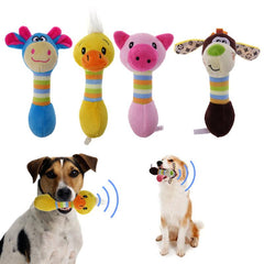 Plush Stuffed Animal Squeaker Pet Toys in 4 Styles