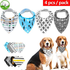 Pet Bandanna Neckerchief Collar - 4pc Pack