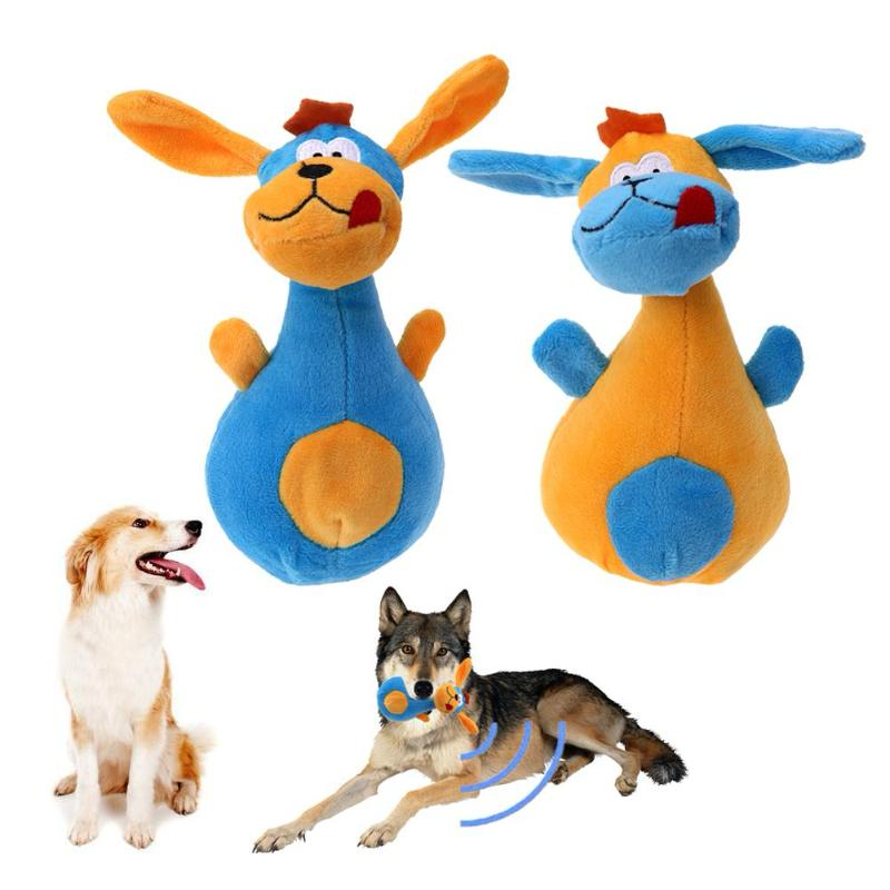 Plush Animal Squeaker Pet Toys in Multiple Animal Shapes