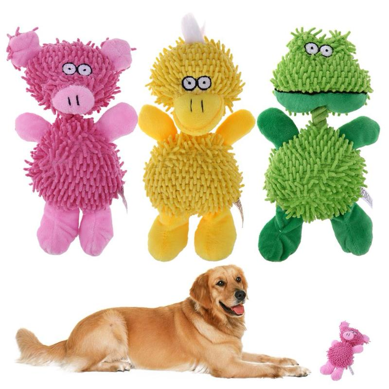 Animal Shapes Squeaky Plush Pet Toys