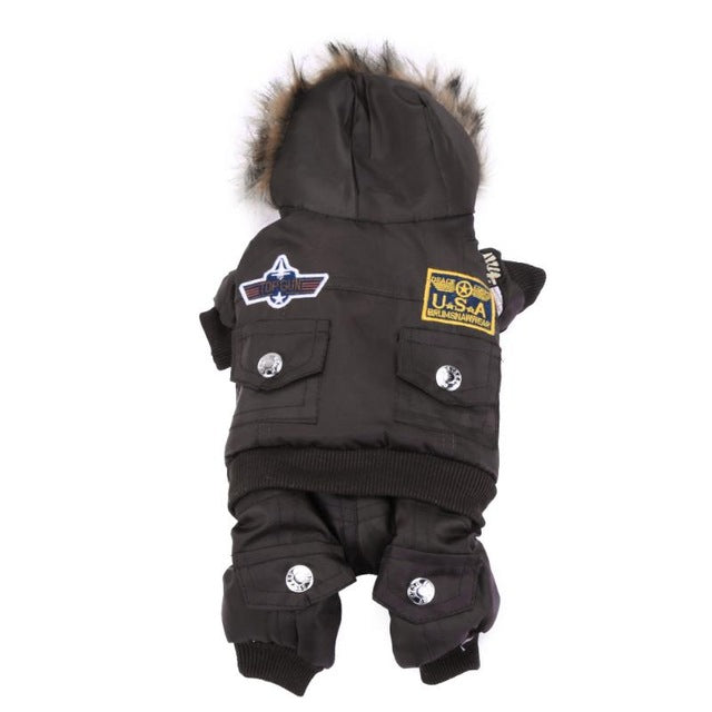 Flight Style Pet Jacket Jumpsuit