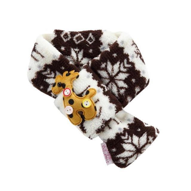 Snowflakes with Reindeer Pet Scarf in 3 Colors