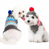 Stylish Warm Striation Soft Snowball Hooded Pet Sweater in 2 Colors