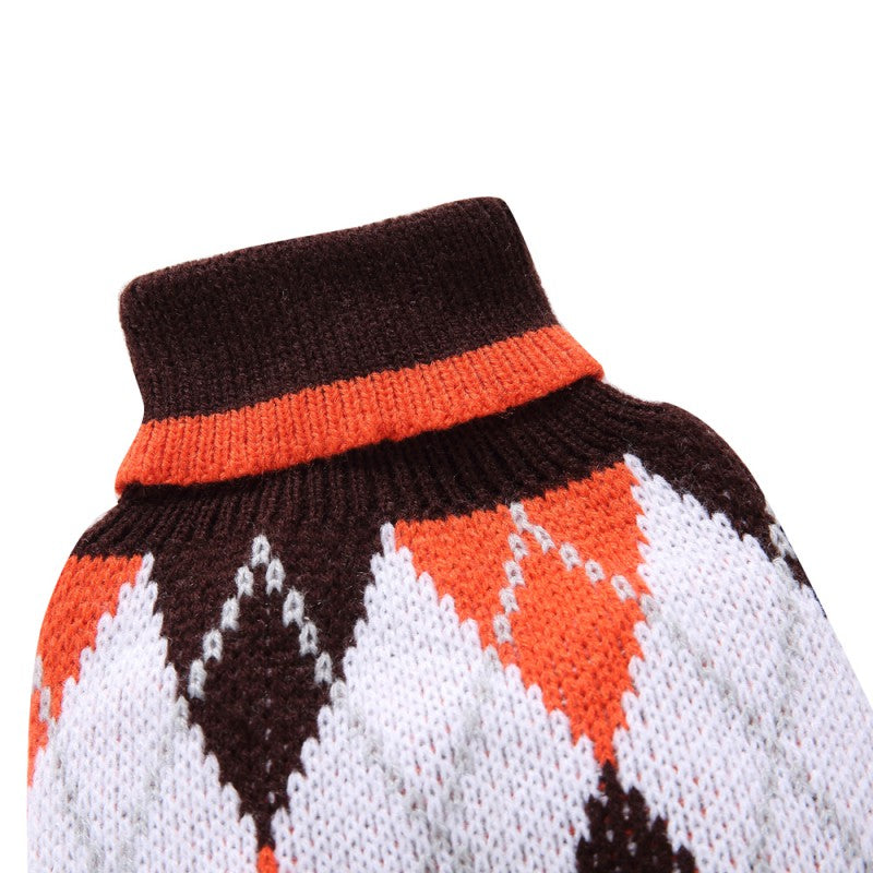 Stylish Argyle Knit Pet Sweaters in 2 Colors