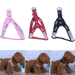 Rhinestone Pet Chest Harness in 3 Colors