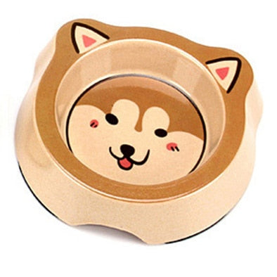 Cute Animal Printed Bowl Feeder