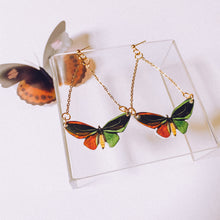 Dangle Emerald Butterfly Statement Earrings