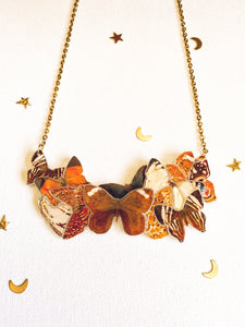 Butterfly Cluster Statement Necklace