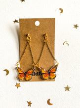 Dangle Monarch Butterfly Statement Earrings