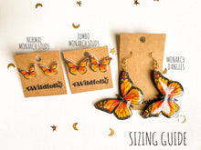 Single Sided Monarch Butterfly Statement Earrings