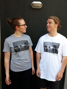 Tee Shirt - The Clean Auckland'81   WHITE AND GREY MARLE SPECIAL PRICE $30 All sales enquiries to cleanedupnz@gmail.com