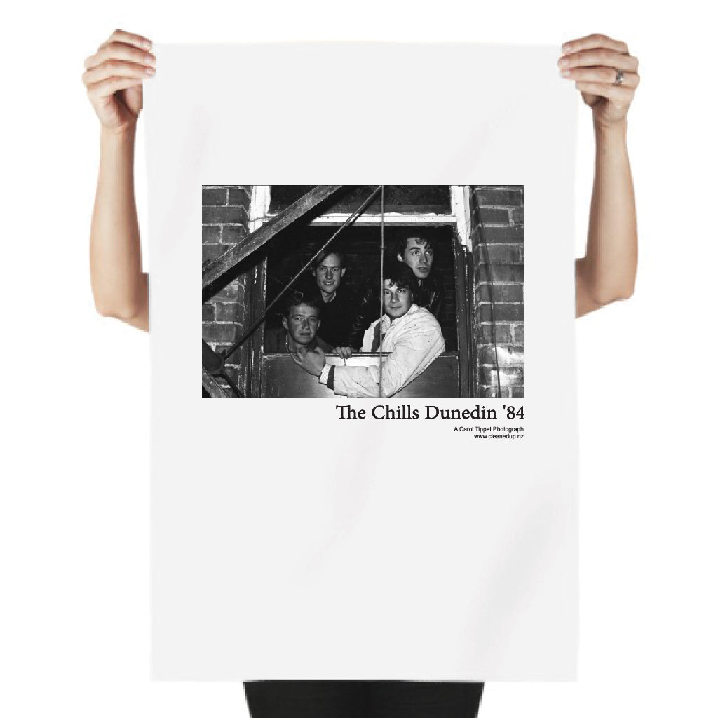 Tea Towel - The Chills Dunedin '84  Original photograph by Carol Tippet  100% cotton, water based inks, food safe