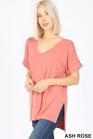 Morgan Rolled Sleeve Tee - NEW colors